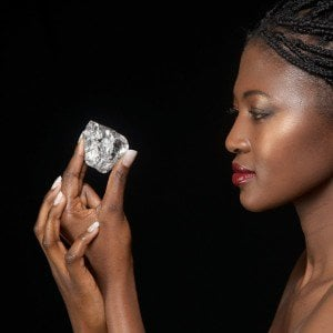 This 498 carat diamond was discovered in Lesotho, Africa.