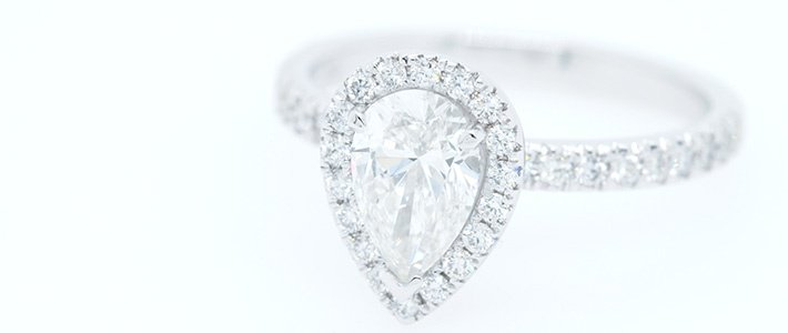 Pear shaped diamond cut