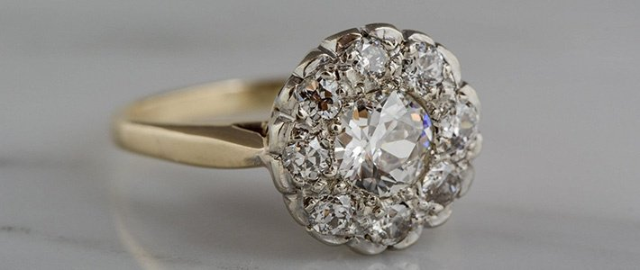 Cluster setting diamond