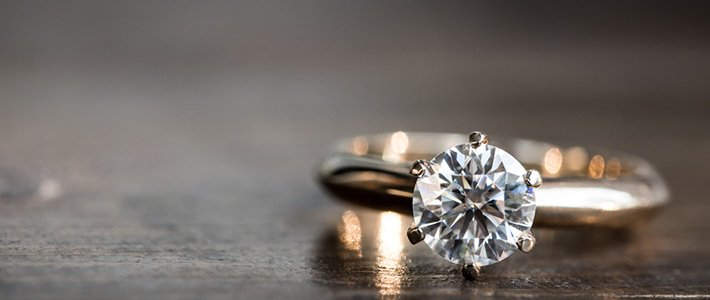 Diamond ring prong set