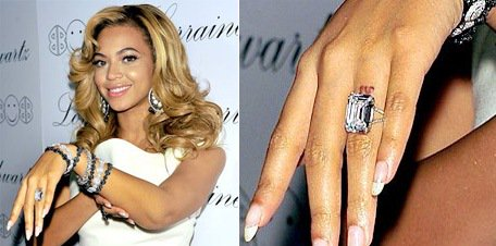 beyonce wedding ring diamond
