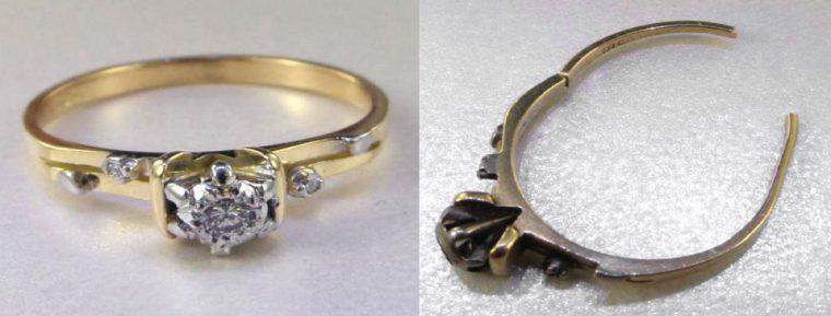 Damaged ring